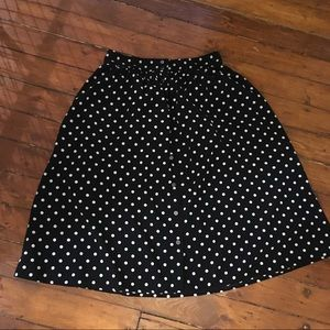 Forever 21 High Waist polka Dot Midi Skirt